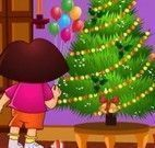 Dora limpar casa para Natal