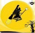 Bruxa voar na vassoura