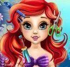 Bebê Ariel no spa