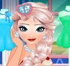 Elsa vestir roupas para festa