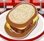 Receita de hambúrguer de carne com queijo