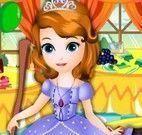 Princesa Sofia limpar salão de festa