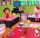 Decorar quarto da Dora e Hello Kitty