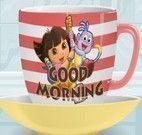 Decorar xícaras da Dora