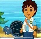 Diego e a Tartaruga Tuga Azul do Mar