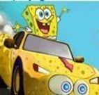Dirigir carro com Bob Esponja no fundo do mar