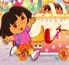 Dora entregar doces