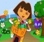 Dora entregar flores de bicicleta