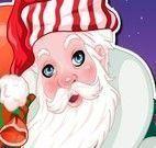 Limpeza de pele do Papai Noel