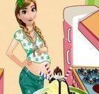 Anna grávida decoração do sorvete