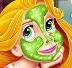 Princesa Rapunzel tratamento facial