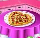 Sara receita de pizza para namorado