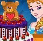 Elsa decorar bolo dia dos namorados