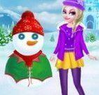 Elsa e boneco de neve