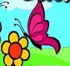 Colorir desenho das borboletas