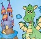 Colorir Dragão no Castelo