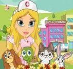 Enfermeira Chloe que cuida dos bichinhos doentes