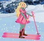 Esquiar com Barbie