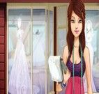 Estilista de moda de vestidos de casamentos para noivas