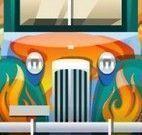 Dirigir carro na estrada quente