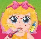 Bebê doente com alergia