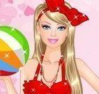 Roupas da Barbie na praia