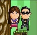 Pular os galhos com Psy gangnam style
