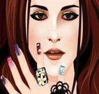 Fazer as unhas das mãos de Kristen Stewart do Crepúsculo