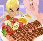 Fazer hambúrguer com bacon