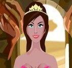 Princesa preparar macarronada