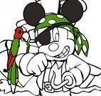 Colorir Mickey pirata