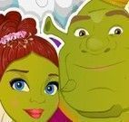 Fiona e Shrek no spa