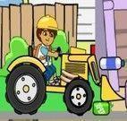 Jogo do Diego dirigindo trator para reciclar lixo