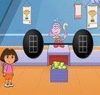 Levantar peso com Dora e Botas
