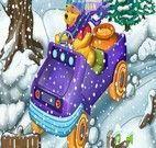 Levar mel no carro do Ursinho Pooh