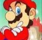 Mario e a princesa na neve