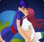 O beijo do casal apaixonado