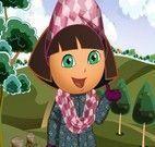 Vestir Dora na moda de inverno