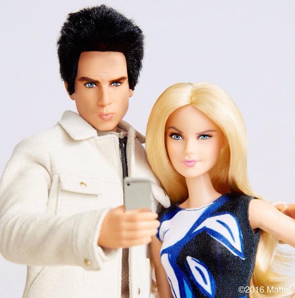 Derek Zoolander e Barbie blogueira